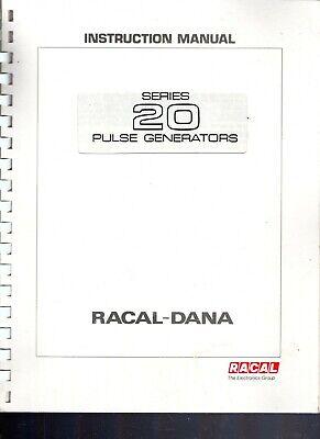 Original Racal-dana Series 20 Pulse Generators Instruction Manual 1983