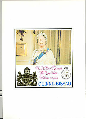 Guinea-Bissau Similar to Guinea #1624 Queen Mother Birthday 1v imperf essay s/s