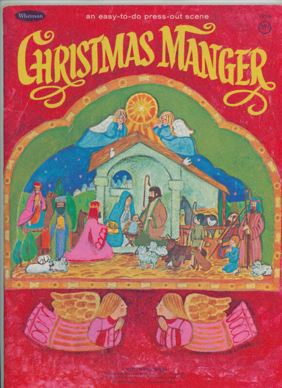 Christmas Manger, an easy-to-do press-out scene. Whitman Book #1916, Dated 1970