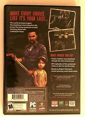 Walking Dead: Limited Edition Best Buy Exclusive (PC, 2012)