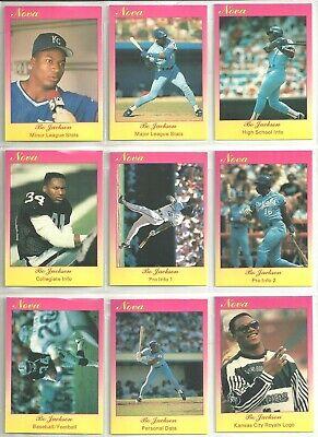 Bo Jackson 1990 Star Company Kansas City Royals 9-Card Nova Series BB Set #/500 - Party City Stars