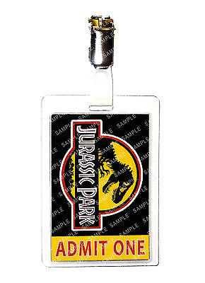 Jurassic Park Admit One Dinosaur Cosplay Fancy Dress Gift Comic Con Halloween ()