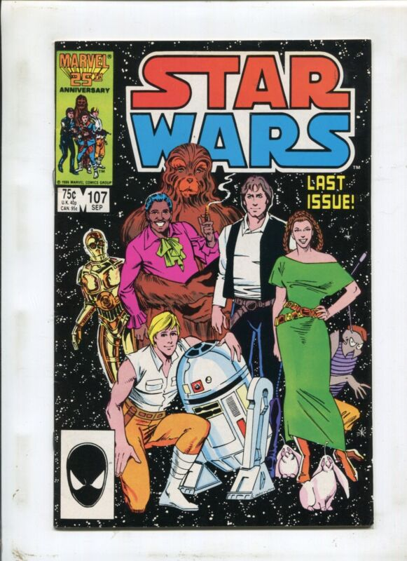 StarWars #107 - Marvel 25th Aniversary Last Issue! - 1986 (9.2)!
