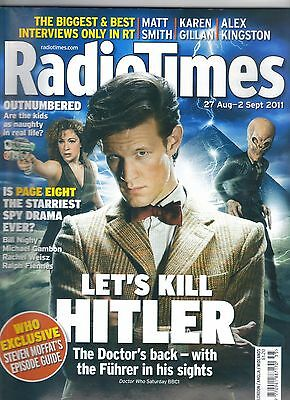 "Radio Times August 2011 Doctor Who (Matt Smith), ""Let's Kill Hitler"" cover"