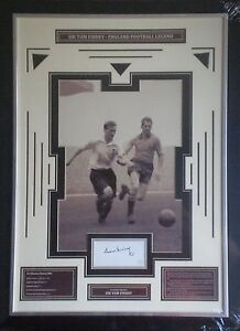 Sir-Tom-Finney-Signed-England-Photo-Display-Framed