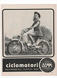 Pubblicita-1972-MOTO-MOTOR-CICLOMOTORE-DEMM-MILANO-advertising-werbung-publicite