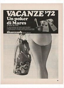 Pubblicita-1972-MARESSUB-SUB-PINNE-MASCHERA-advert-werbung-reklame-publicite