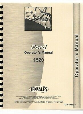 Ford 1520 Tractor Owners Operators Manual Diesel Compact