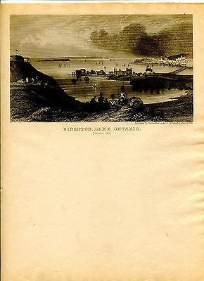 Vintage MAGNUS  LETTERHEAD KINGSTON LAKE ONTARIO Canada soldiers on shore