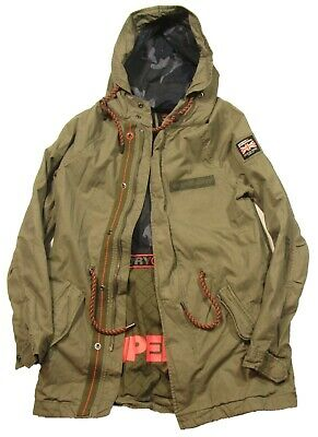 Superdry Men's Troop Khaki Brown Aviator Lightweight Rookie Parka Jacket