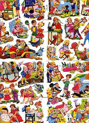 # GLANZBILDER # kompletter Großbogen MLP 1724 & 1725 niedliche spielende Kinder
