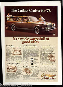 1978 CUTLASS CRUISER wagon advertisement, OLDSMOBILE Cutlass station wagon