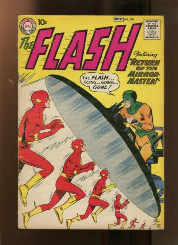 FLASH #109 (4.0) RETURN OF THE MIRROR MASTER!! 1959