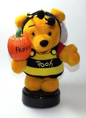 Disney Store Winnie The Pooh Halloween Bee Costume Light Up Pumpkin Hunny Plush - Winnie The Pooh Halloween Pumpkin