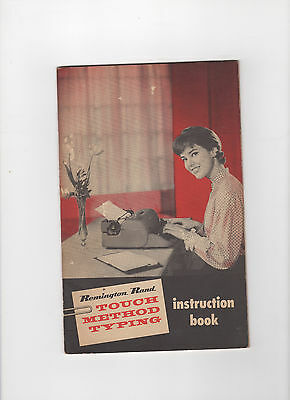 Vintage 1950s Remington Rand Touch Method Typing booklet