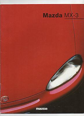 1993 Mazda MX-3 brochure