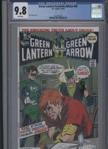Green Lantern Facsimile Edition #85 CGC 9.8 Neal Adams 2019 reprint