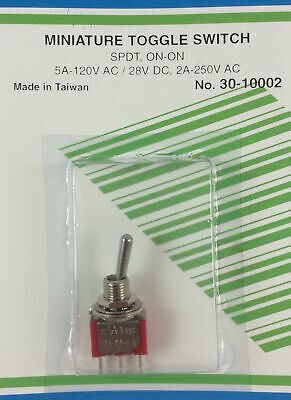 Mini Toggle Switch Spdt On-on 5a 120vac