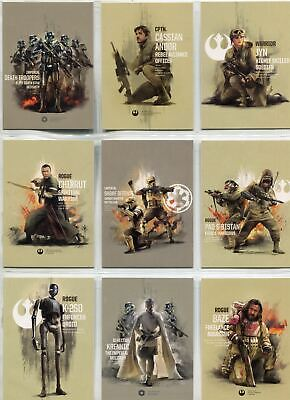 Star Wars Rogue One Series 2 Complete Prime Forces Chase Card Set PF1-10