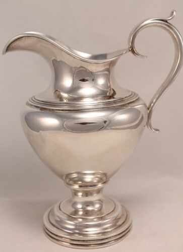 LINCOLN AND REED PURE SILVER COIN PITCHER CIRCA 1838-48