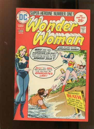 WONDER WOMAN #216 (9.0) PARADISE IN PERIL! 1975