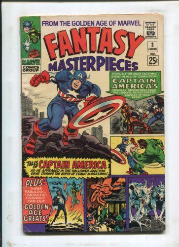 FANTASY MASTERPIECES #3 - TALES OF CAPTAIN AMERICA! - (4.5) 1966