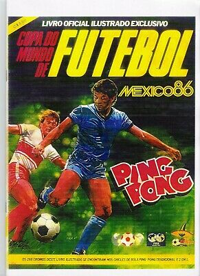 ALBUM CROMOS FUTBOL MUNDIAL MEJICO 86 PING PONG FACSIMIL COMPLETO Y NUEVO