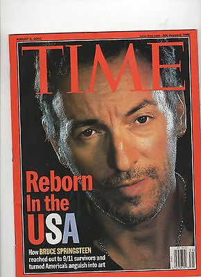 Bruce Springsteen Time  Mag 8/5/2002 Reborn In The USA