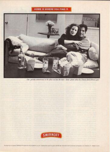 Smirnoff Vodka--Home Is Where You Find It--1991 Magazine Advertisement