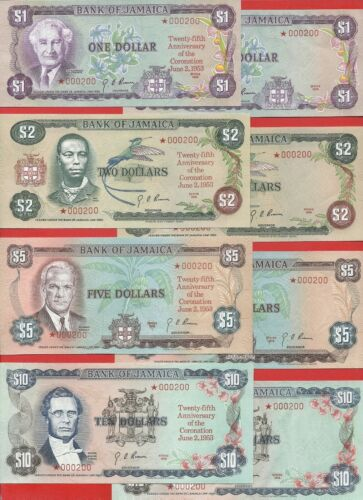 Jamaica 1978 SPECIMEN set of 8 matching # 000200 with COA Uncirculated