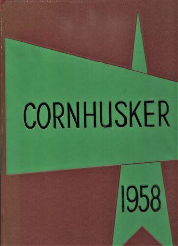 "1958 ""Cornhusker"" - University of Nebraska Yearbook - Lincoln, Nebraska +"