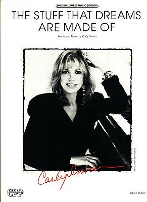 CARLY SIMON THE STUFF THAT DREAMS ARE MADE OF SHEET MUSIC PIANO/V/GUITAR 1987