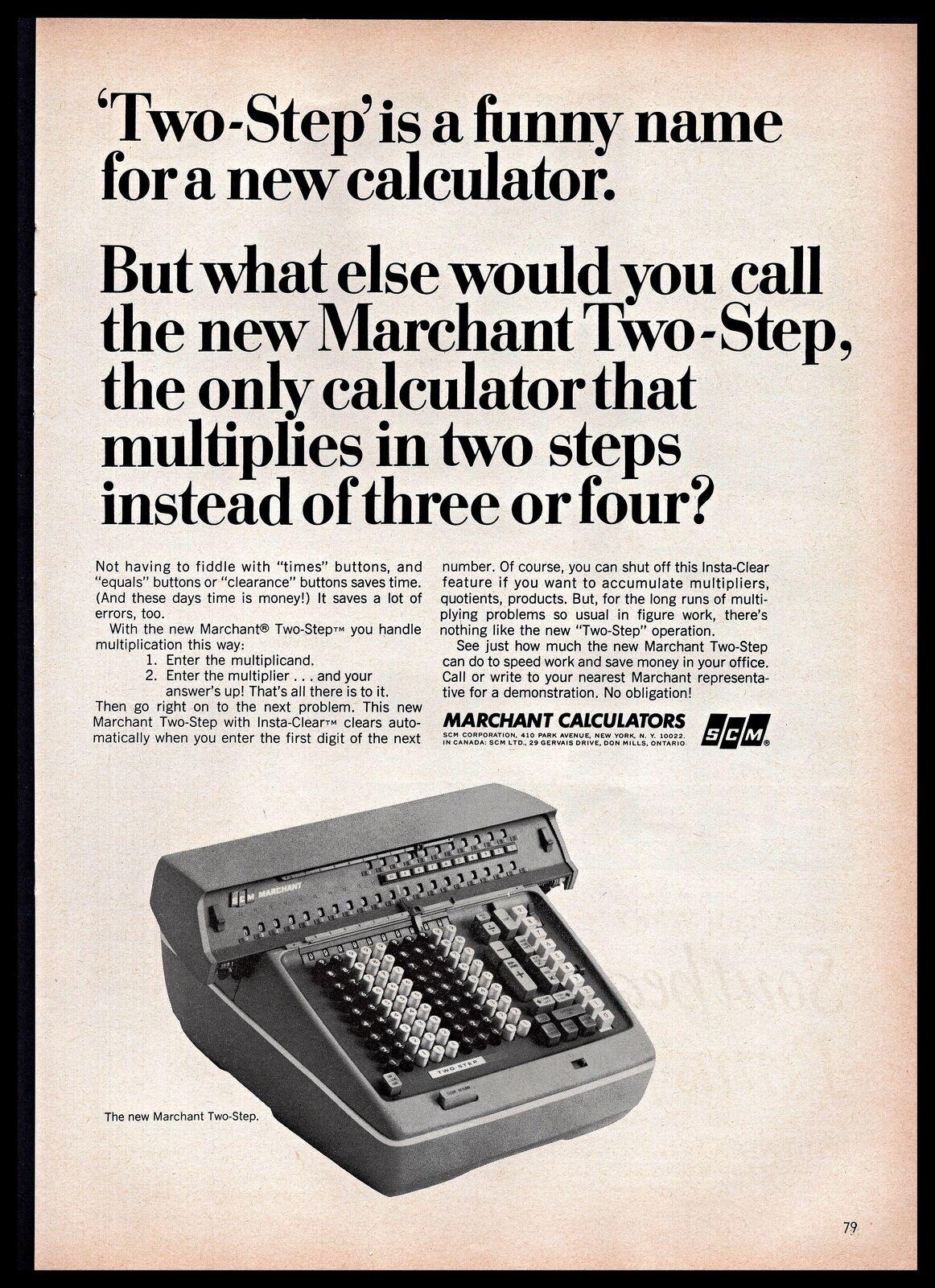 Details about 1965 SCM Corporation Marchant Two-Step Calculator B&W Vintage  PRINT AD 1960s
