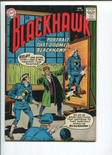 BLACKHAWK COMICS #187    8.0/8.5  VF+   ORIGINAL OWNER!  NICE PAGES!
