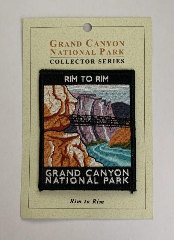"Grand Canyon National Park ""Rim to Rim"" Souvenir Iron Patch New Collector Series"