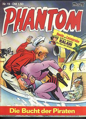 Phantom Nr.19 von 1975 mit Beilage - TOP Z0-1 BASTEI KRIMI COMIC-HEFT Lee Falk