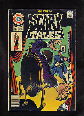 SCARY TALES #5 G   (STEVE DITKO COVER AND STORY)  1976 CHARLTON