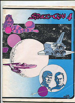 June 1977 SPACE-CON 4 Science Fiction Convention Program SIGNED DeForest Kelley