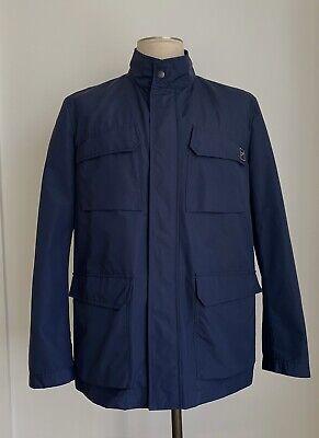 FAY Italy Mens Lightweight Navy Blue Cotton Nylon 4 Pocket Jacket Sz XL