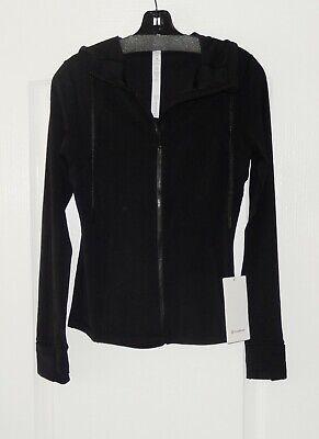 Lululemon HOODED DEFINE JACKET *NULU Slim Fit Full Zip Jacket Black NWT 8