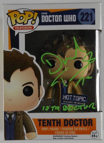 David Tennant Doctor Who 10th Signed Autograph Funko Pop 221 JSA COA Tenth