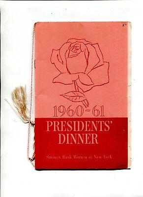 Vintage Event Menu Waldorf Astoria 1961 Savings Bank Women Of Ny Presidents