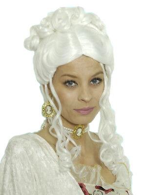 süße Damen Mädchen BAROCK Perücke Kostüm Rokoko Lady mittelalter Larp Fasching
