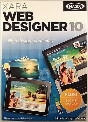 MAGIX XARA Web Designer 10 Brand New Factory Sealed