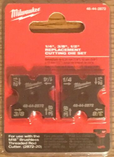 "Milwaukee 48-44-2872 1/4"", 3/8"", 1/2"" Cutting Die Set for 2872-20 NEW"