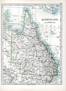 1897-VICTORIAN-MAP-QUEENSLAND-AUSTRALIA-CAPE-YORK-PENINSULA