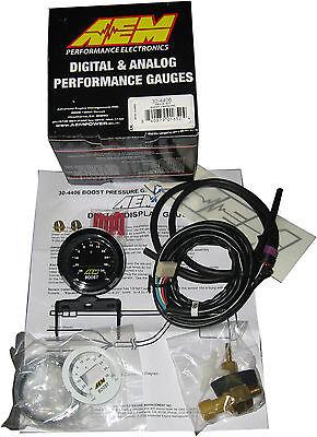 AEM 30-4406 52MM DIGITAL 35psi ELECTRONIC TURBO BOOST GAUGE - FULL WARRANTY !!
