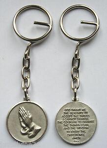 Pewter-Serenity-Prayer-Key-Ring-Verse-Religious-Gift-Christian-Catholic