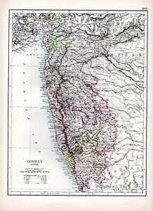1897-VICTORIAN-MAP-INDIA-SOUTH-BOMBAY