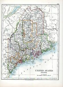 1897-VICTORIAN-MAP-UNITED-STATES-OF-AMERICA-MAINE